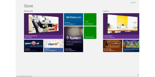 Microsoft Store für Windows-8-Apps