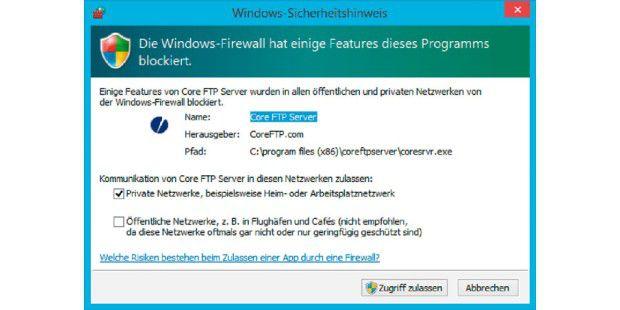 Windows firewall port freigeben
