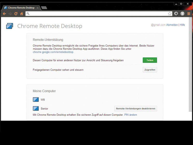 Google Remote Desktop Web