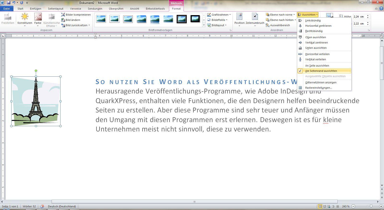 Mit Word Perfekte Layouts Erstellen Pc Welt