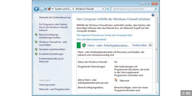 Vorteile der Windows-Firewall