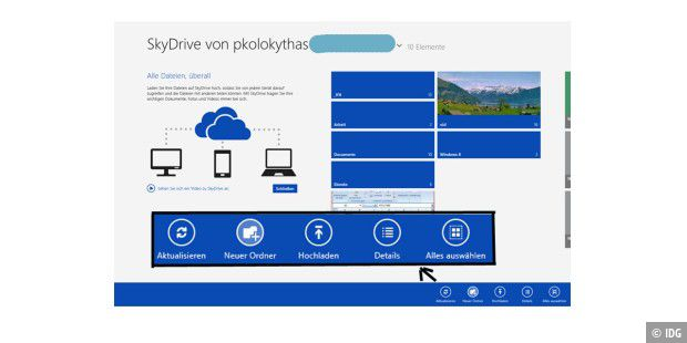Windows 8: Untere Leiste