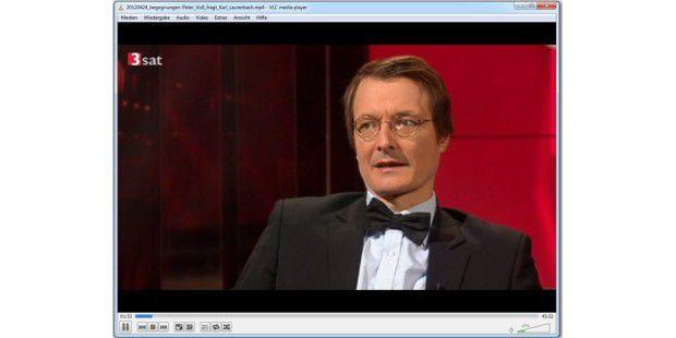 Der kostenlose VLC Media Player spielt alle aus denOnline-Mediatheken der Fernsehsender aufgenommenen Sendungenab.