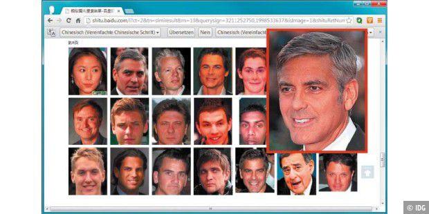 Bildersuche Gesichtserkennung