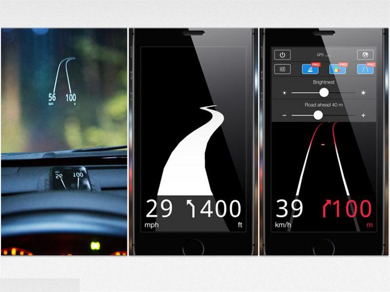 gratis smartphone als head up display im auto pc welt. Black Bedroom Furniture Sets. Home Design Ideas