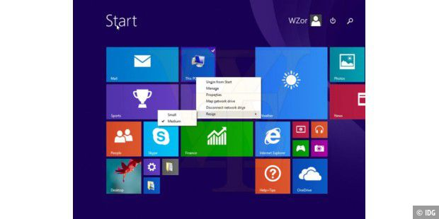 Erster Screenshot von Windows 8.1