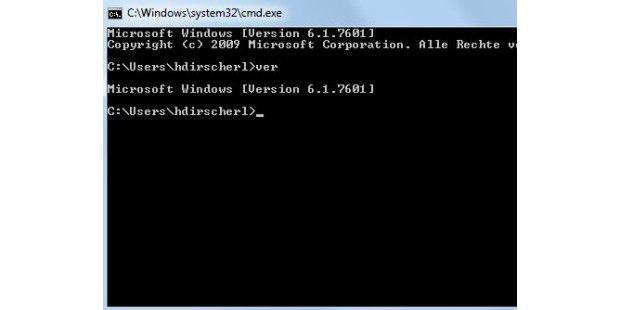 Windows-Version auf der Kommandozeile ermitteln