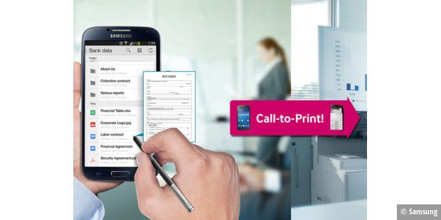 Samsungs Cloud-Print-App auf der CeBIT