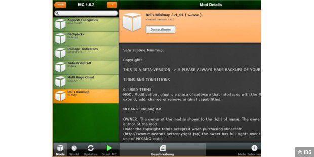 Tool Verwaltet Minecraft Mods Pc Welt