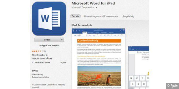 Office Für Ipad Auf Platz Eins Der App Store Charts Pc Welt