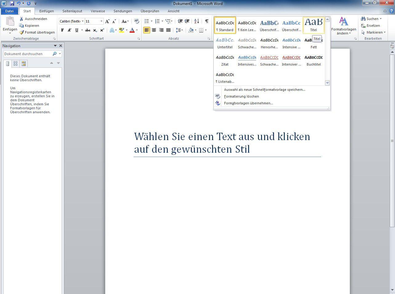 Word-Formatvorlagen und Designs clever anwenden - PC-WELT