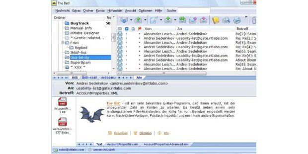 Mail-Programm: The Bat! Home Edition