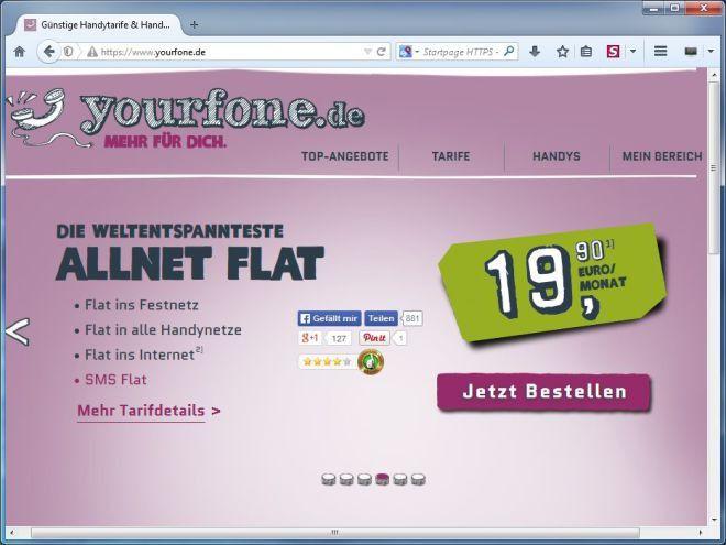 Yourfone Hat Die Billig Flatrate Einen Haken Pc Welt