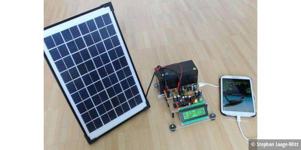 f r bastler solarpanel wird solarlader pc welt. Black Bedroom Furniture Sets. Home Design Ideas