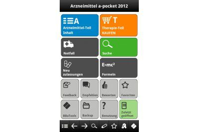 "Android-App ""Arzneimittel a-pocket 2012"""