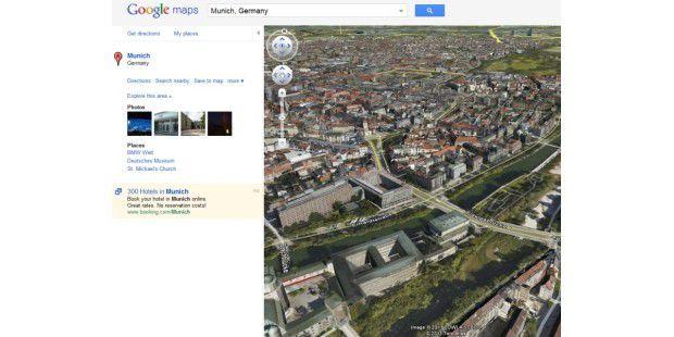 Google Maps mit Earth-Plugin