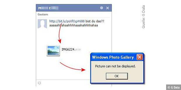 1e45f3fa87396b Bist du das  Malware-Falle bei Facebook - PC-WELT