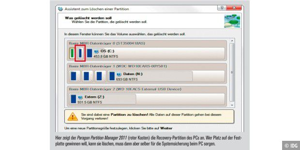 Paragon Partition Manager 2011