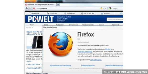 Firefox 7 in finaler Version erschienen