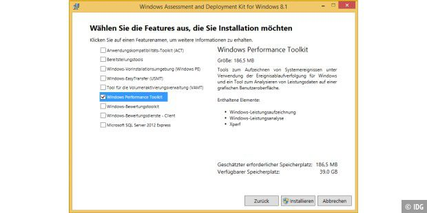 "Das Windows Performance Toolkit (WPT) von Microsoft ist in der Programmsammlung ""Windows Assessment and Deployment Kit (Windows ADK) für Windows 8.1 Update"" (Web-Installer auf der Heft-DVD) enthalten."