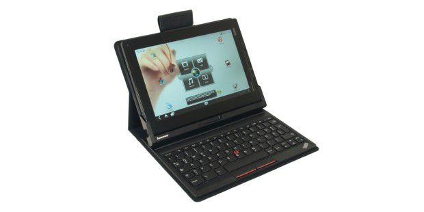 Im Keyboard Folio Case wird das Lenovo Thinkpad Tablet zum