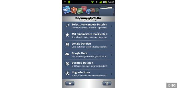 Documents to Go ist ein Veteran unter den mobilen Office-Suiten