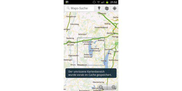 Google Maps Navigation kann Karten vor Antritt der Fahrtauf dem Smartphone speichern