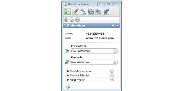 Mit Tools wie BeamYourScreen sind Besprechungen undPräsentationen im Web mit zwei Mausklicks gestartet.