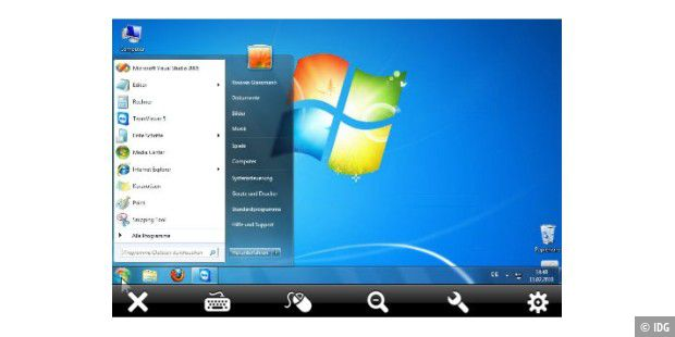 Tablet-PC: TeamViewer-Zugriff