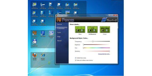 Symbole auf dem Desktop sortieren