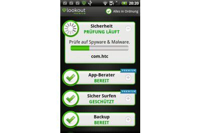 "Android-App ""Lookout Security & Anti Virus"""