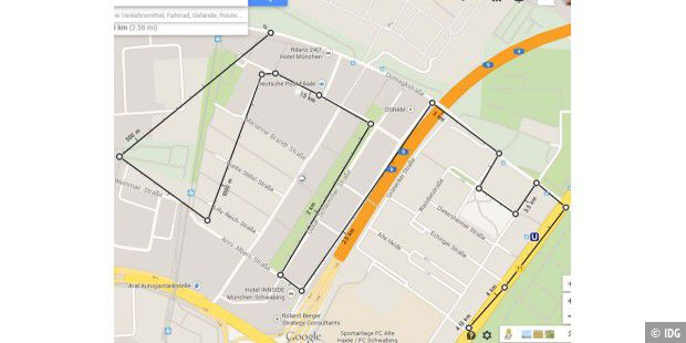 google maps misst entfernungen nun genauer pc welt. Black Bedroom Furniture Sets. Home Design Ideas
