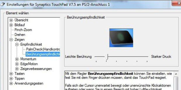Funktionen des Notebook-Touchpads optimal anpassen