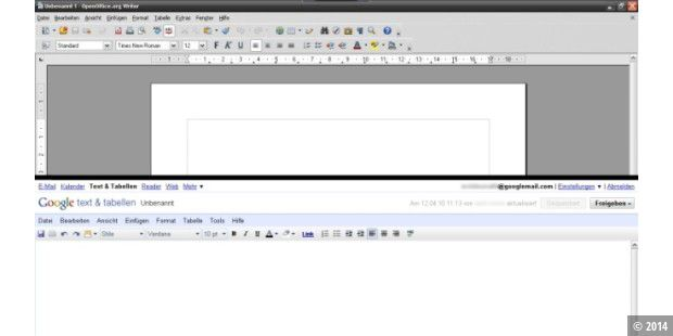 OpenOffice.org vs. Google Text & Tabellen