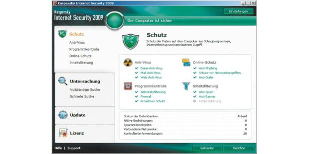 Ein Programm, alles drin: Kaspersky Internet Security 2009