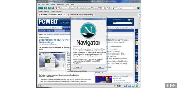 Netscape Communicator - Konkurrent des Microsoft Internet Explorers.