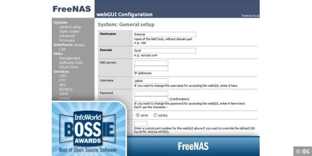 FreeNAS, das Open Source NAS