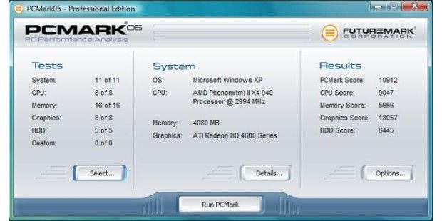 "PC Mark 05: Guter ""Graphics""-Score des Atelco 4gamez! AMD Phenom II X4 940"