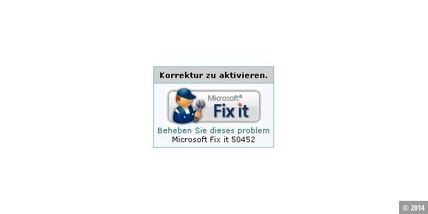 Fix-it Lösung als Workaround