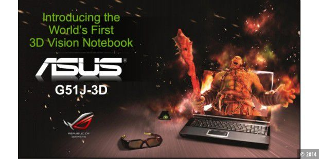Mobil in die dritte Dimension: Asus-Notebook G51J-3D