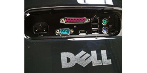 Dell Inspiron One 19 Touch: Schnittstellen auf derRückseite