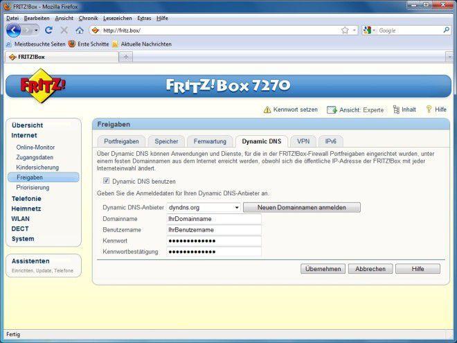 Dyndns Fritzbox