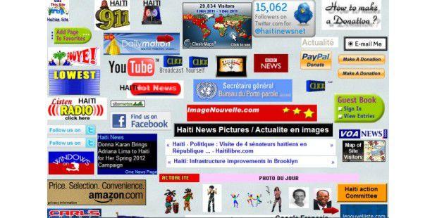 Die Webseite im Bild ist ein extremes Beispiel dafür, wie man seinen Web-Auftritt mit blinkenden Widgets und animierten GIFs überladen kann. (Bild: PCWorld.com)