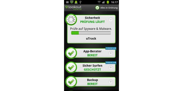 Premium-Version von Lookout Security & Anti