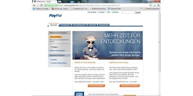wie richtet man ein paypal konto ein