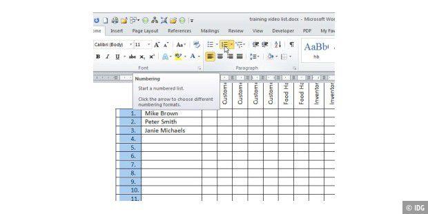 6. Zwei Tabellen nebeneinander anordnen - PC-WELT