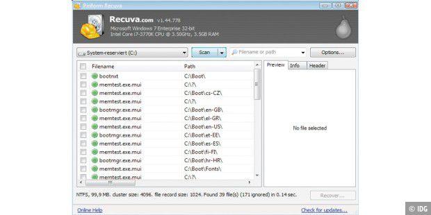 Dateien mit Windows-7-PE wiederherstellen - PC-WELT