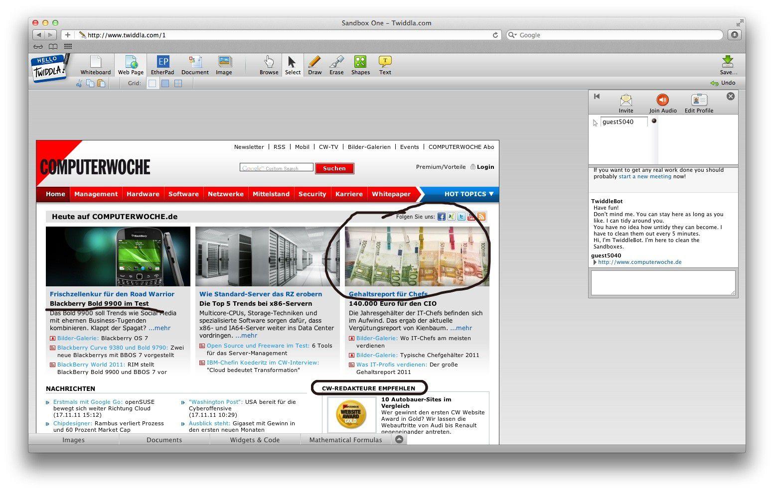 Twiddla: Skizzen und Notizen auf dem Browser - PC-WELT