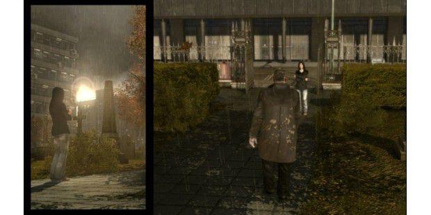 Wie in der Thrillerserie »24« spaltet sich in Heavy Rain gelegentlich das Bild. Auf diese Weise werden parallele Handlungen dargestellt.