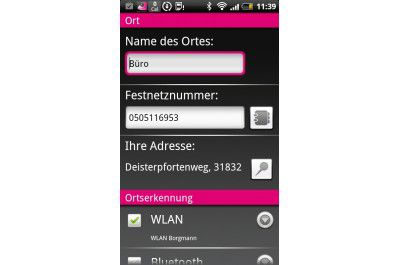 "Android-App ""Cally Rufumleitung ortsbasiert"""